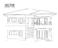 3D Home Design Stock Images