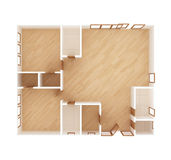 3D home floor plan Stock Photography