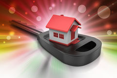 3d home with key Stock Photography