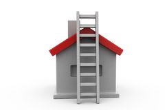3d home ladder concept Stock Images