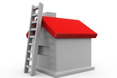 3d home ladder concept Royalty Free Stock Photo