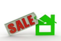 3d Home Sale Royalty Free Stock Images