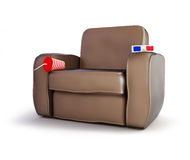 3d home theater. On a white background Stock Images