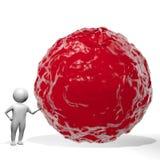 3D homem - água vermelha/sangue Foto de Stock Royalty Free