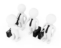 3d homem de negócios Characters Shaking Hands rendição 3d Fotos de Stock Royalty Free