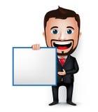 3D homem de negócios realístico Cartoon Character Teaching ou guardar Foto de Stock
