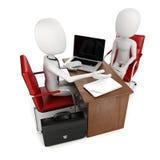 3d homem, reunião de negócios, entrevista de trabalho Fotos de Stock