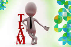 3d homem Team Illustration Foto de Stock Royalty Free