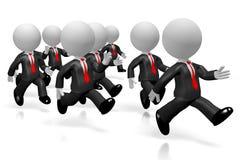 3D homens de negócios running - conceito do desempenho do ritmo da competição ilustração royalty free