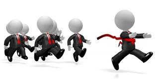 3D homens de negócios running - conceito do sucesso do revestimento ilustração do vetor