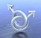 D'homme à homme homosexuel Images libres de droits