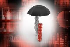 3d homme, concept financier illustration stock