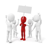 3d homme - groupe de personnes de protestation illustration stock