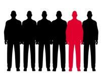 D'homme la ligne impaire à l'extérieur des hommes Photos libres de droits