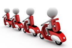 3d homme 2015 sur le concept de scooter Photos stock