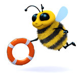 3d Honey bee lifeguard Stock Photos
