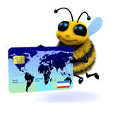 3d Honey bee pays with plastic Stock Image