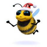 3d Honey Bee Santa Claus Royalty Free Stock Photography