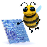 3d Honey bee solar power Stock Image