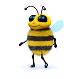 3d Honey bee walking Stock Image