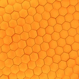 3D honeycomb background. 3D render orange honeycomb background Royalty Free Stock Photos