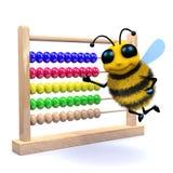 3d Honingbijtellingen op een telraam Stock Afbeelding