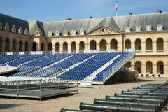 D'Honneur Les Invalides Parigi di Cour della gradinata immagini stock