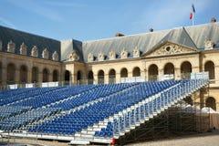 D'Honneur Les Invalides Parigi di Cour della gradinata fotografie stock