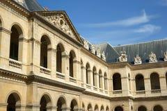 D'Honneur Les Invalides Parigi Francia di Cour fotografie stock
