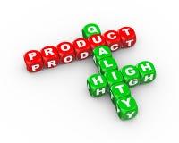 3d hoog kruiswoordraadsel - kwaliteitsproduct Stock Afbeelding