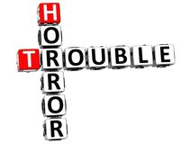 3D Horror Trouble Crossword Stock Photography