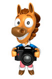 3D Horse character to shoot the Big Camera toward the Front. 3D Stock Photos