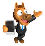 3D Horse mascot the right hand guides  Royalty Free Stock Photography