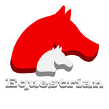 3D horses head on white background. Animal. Stock Photography