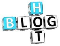 3D Hot Blog Crossword. On white background Stock Photos
