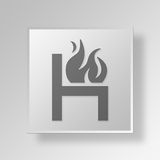 3D  Hot Seat Button Icon Concept Royalty Free Stock Photo