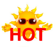 3d Hot sun Royalty Free Stock Images