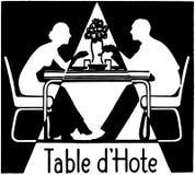 D'Hote de la tabla Fotografía de archivo