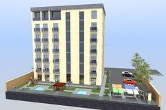 3D hotel geeft terug Royalty-vrije Stock Foto