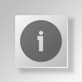 3D Hotel Information Button Icon Concept Royalty Free Stock Photography