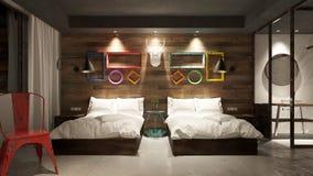 3d hotel odpłaca się pokój royalty ilustracja