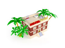 3d hotel in the tropics Royalty Free Stock Photography