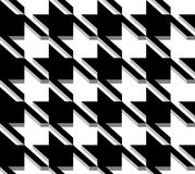 3D Houndstooth Weave, Vector Seamless Pattern. Stock Image