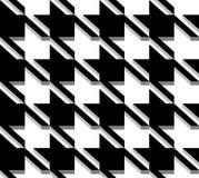 3D Houndstooth-Weefsel, Vector Naadloos Patroon. Stock Afbeelding