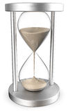 3D hourglass with sands Stock Photos