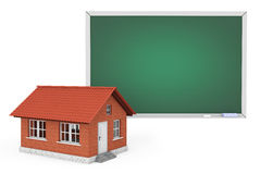 3d House with Blank Blackboard Royalty Free Stock Image