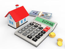 3d house budget concept Stock Photos
