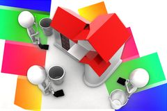 3d House Cleaning Illustration Royalty Free Stock Image