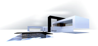 3d house - conception Stock Photography