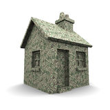 3d House of dollar bills Royalty Free Stock Photography